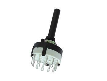 Commutateur rotatif axial 2 Circuit 6 Position à Souder