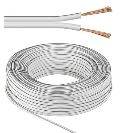 Cable hp scindex blanc 2 x 1.5mm2; l25m